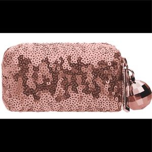 MAC COSMETICS Mini Rose Gold Sequins Bag NWOT